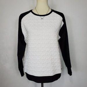 Rafaella Sport Quilted Raglan Sleeve Sweatshirt, S